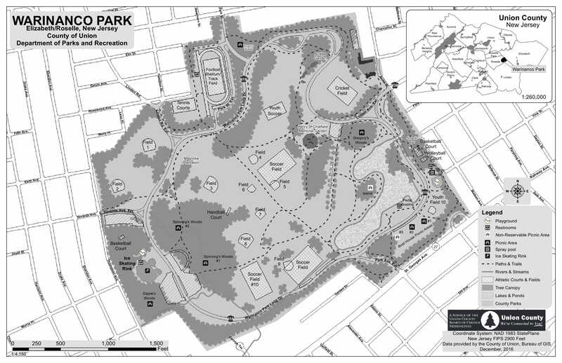 Image of the map of Warinanco Park